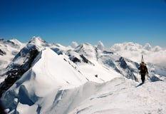 bergsbestigning Royaltyfri Fotografi