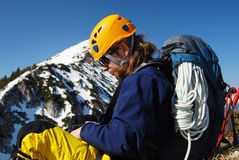 bergsbestigning romania Royaltyfria Bilder
