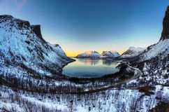 Bergsbotn,挪威 免版税库存照片