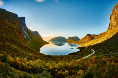 Bergsbotn,挪威 免版税库存图片