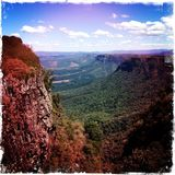 Bergscène Zuid-Afrika Stock Foto