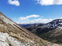 Bergscapes arkivfoton