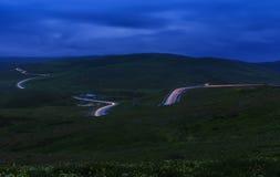 Bergserpantin Gobustan-Shamakhi azerbaijan royalty-vrije stock foto's