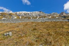 Bergsida på den Kaiser Franz Josef glaciären Grossglockner österrikiska fjällängar arkivfoto