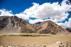 Bergsikt av den Zanskar dalen Royaltyfri Foto