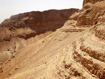 Bergsikt från den Masada fästningen, Israel arkivbilder