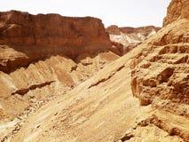 Bergsikt från den Masada fästningen, Israel royaltyfria bilder