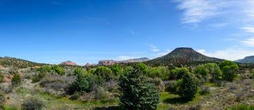 Bergsikt i Arizona USA arkivbilder