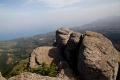 Bergsikt i sommar Royaltyfri Fotografi