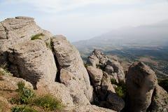 Bergsikt i sommar Arkivbild