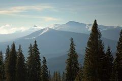 Bergsikt på en solig dag Royaltyfri Bild