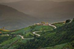Bergsikt på Phu Thap Boek Royaltyfria Bilder