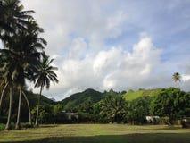 Bergsikt Rarotonga, kock Islands Arkivbild