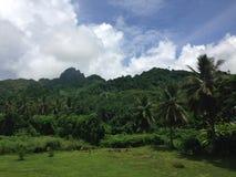 Bergsikt Rarotonga, kock Islands Fotografering för Bildbyråer