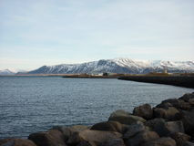 Bergsikt, Reykjavic Royaltyfri Bild