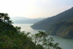 Bergsikter i Taoyuan Taiwan Arkivbild