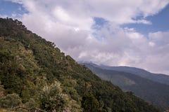Bergsikter San Gerado de Dota, Costa Rica Fotografering för Bildbyråer