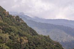 Bergsikter San Gerado de Dota, Costa Rica Arkivfoto