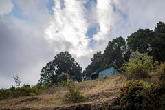 Bergsikter San Gerado de Dota, Costa Rica Royaltyfri Foto