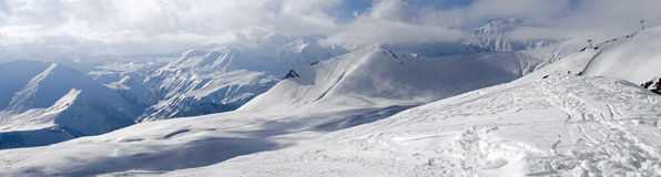bergsiktsvinter Royaltyfri Bild