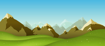 bergskedja Arkivbilder