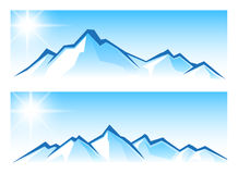Bergskedja Royaltyfria Bilder