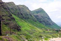 Bergskedja för Ko `-olau, Oahu, Hawaii Arkivfoton