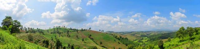 Bergskedja i Thailand Arkivbild