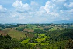 Bergskedja som är jordbruks- i Thailand Fotografering för Bildbyråer