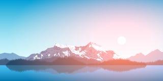 Bergskedjalandskap Arkivfoton