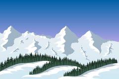 Bergskedjalandskap Royaltyfri Bild