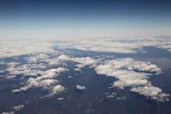 bergsnowöverkant Fotografering för Bildbyråer