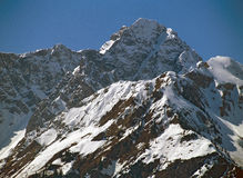 bergsnow Arkivbild