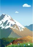 bergsnow royaltyfri illustrationer