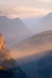 bergsolljus Royaltyfri Fotografi