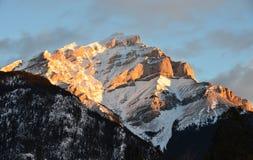 Bergsoluppgång 1 Royaltyfri Bild