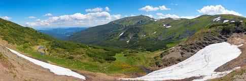 bergsommarsikt Arkivfoto