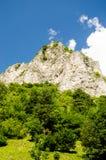 Bergspitze auf den Alpen Stockfotografie