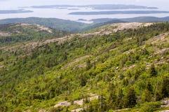 Bergspitzeansicht am Acadia Stockfoto