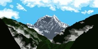 Bergspitzelandschaft lizenzfreie abbildung