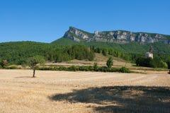 Bergspitzen und Klippen in der Drome-Region von Süd-Frankreich Lizenzfreie Stockbilder