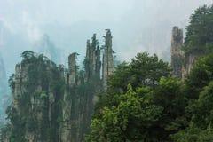 Bergspitzen in Zhangjiajie China Stockfoto
