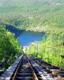 Bergspoorweg stock foto's