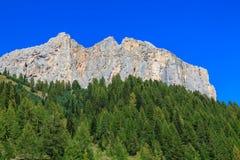 Bergssida i dolomitesna Fotografering för Bildbyråer