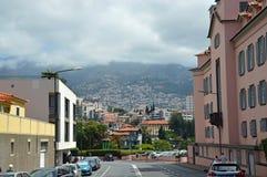 Bergssida i Funchal royaltyfria foton