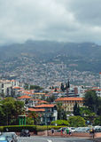Bergssida i Funchal royaltyfri bild