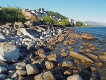 Bergstad royaltyfri fotografi