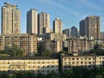 Bergstad Chongqing royalty-vrije stock afbeeldingen