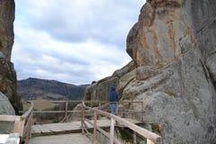 Bergstadfästning Royaltyfria Bilder