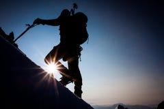 Bergsteigen Lizenzfreies Stockfoto